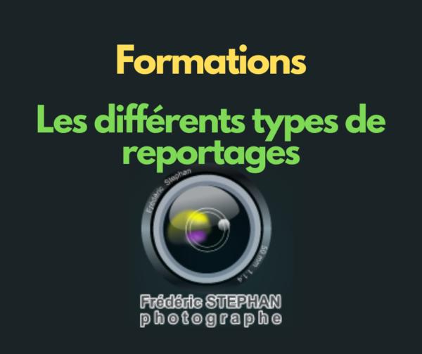 Formation - Différents types de reportages